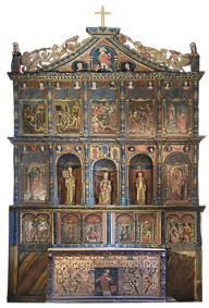 Retable de l'église de Jézeau, carte postale