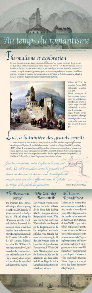 Panneau histoire, musée-trésor de l'église de Luz-Saint-Sauveur