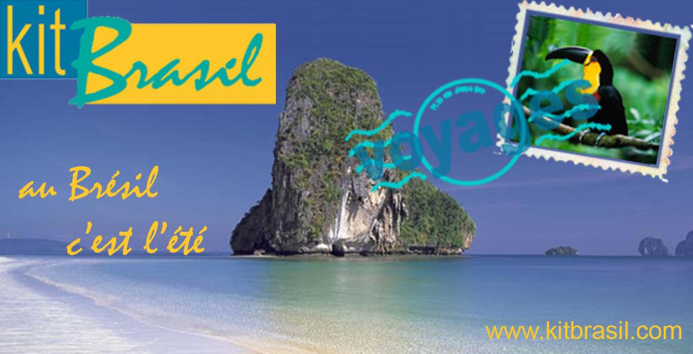 Visuel pour l'agence de voyage 'KitBrasil'